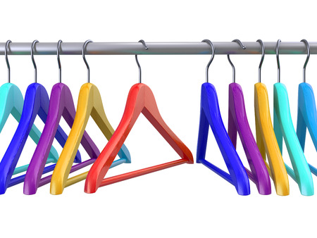 clothes hangers: Clothes hangers on white isolated  background. 3d
