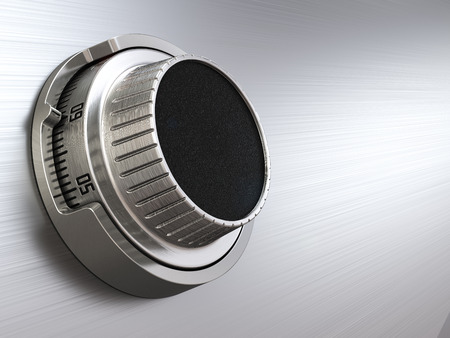 combination safe: Combination safe dial lock. Concept of banking.  Closeup background. 3d