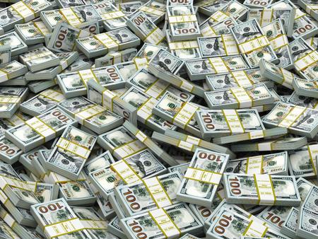 money packs: Packs of dollars Background. Lots of cash money. 3d