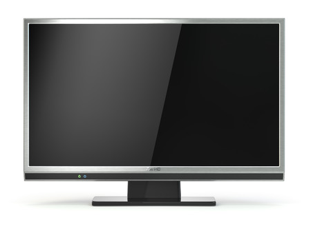 lcd tv: TV flat screen lcd or plasma isolated on white. .Digital broadcasting television. 3d