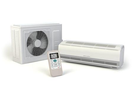 Airconditioner systeem geïsoleerd op wit. 3d Stockfoto - 35565086