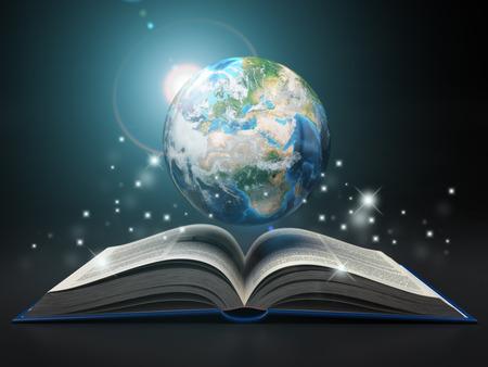 Erde und offenes Buch