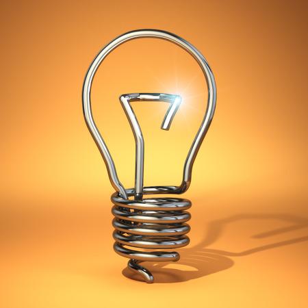 idea bulb: Idea concept. Abstract light bulb silhouette. 3d