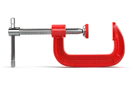 c clamp: Clamp compression tool isolated on white. 3d