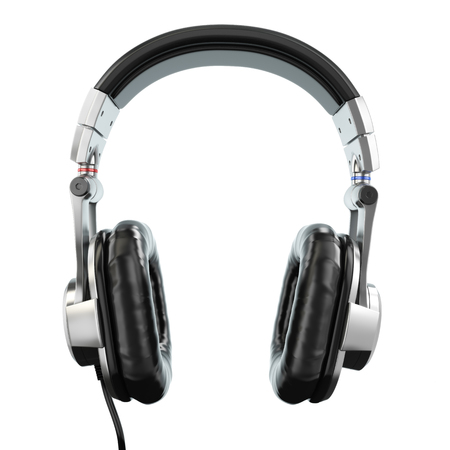 Headphones isolated on white background. Three-dimensional image. 3d Фото со стока