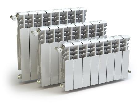 Heating radiators isolated on white background. 3d Standard-Bild
