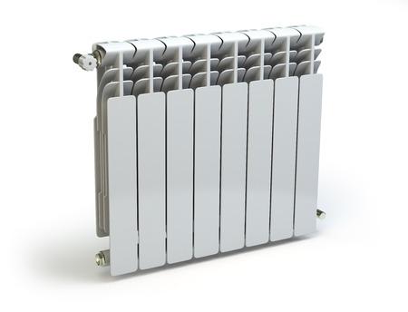 Heating radiators isolated on white background. 3d Stock Photo