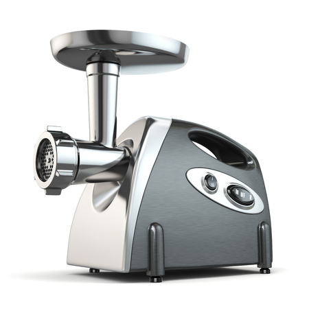 Electric meat grinder isolated on white. 3d