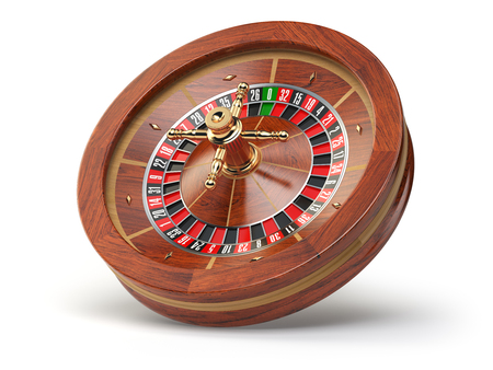 wheel of fortune: Casino roulette wheel isolated on white background. 3d illustration