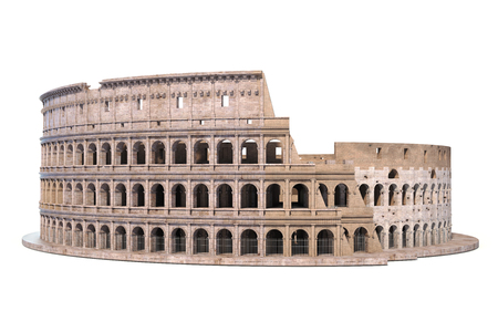 Coliseum, Colosseum isolated on white. Architectural and historic symbol of Rome and Italy, 3d illustration Stock Illustration - 108812843