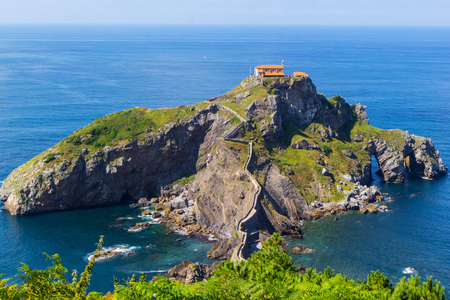 San Juan de Gaztelugatxe, Basque Country, Spain Stock Photo