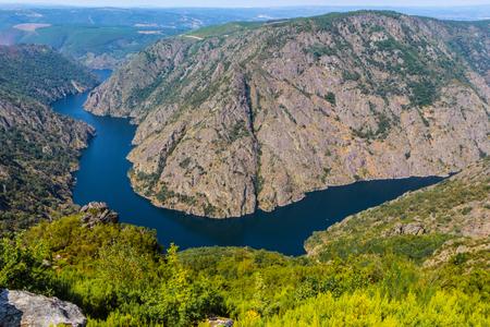 Sil Canyon Canyon del Sil, Ribeira Sacra.  Galicia, Spain. Stock Photo