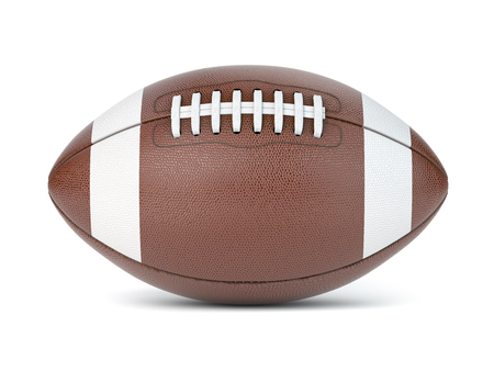 American football ball isolated on white Stock Photo