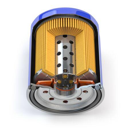Car oil filter isolated on white Stock fotó