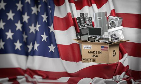 Household appliances made in USA.