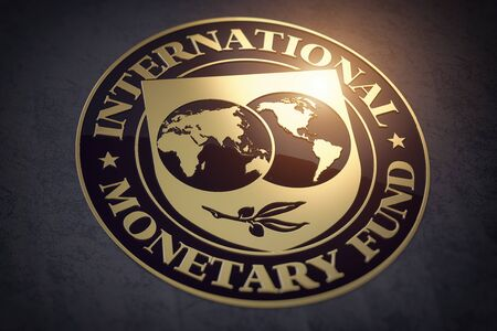 IMF International Monetary Fund symbol or sign. Reklamní fotografie