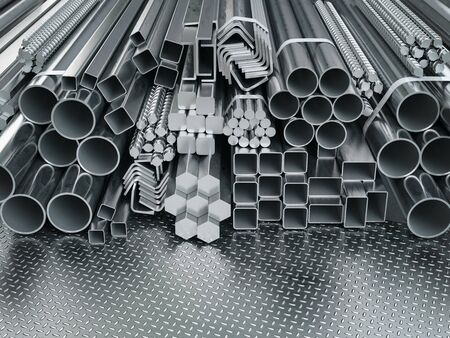 Stainless steel profiles and tubes.