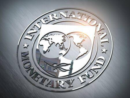 IMF International Monetary Fund symbol or sign. 3d illustration Reklamní fotografie