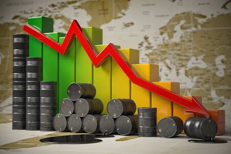 Crisis in oil and petroleum industry. Stock Photo