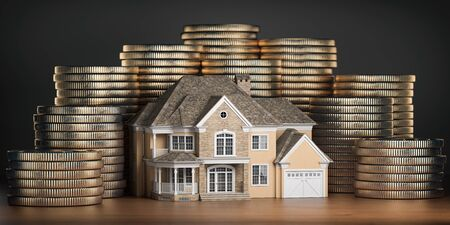 Real estate investments and mortgage concept.