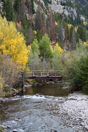colorado landscape: Bridge Stock Photo