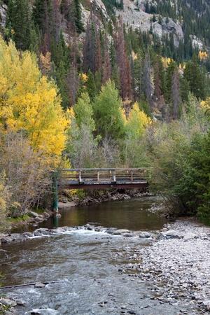 colorado mountains: Bridge Stock Photo