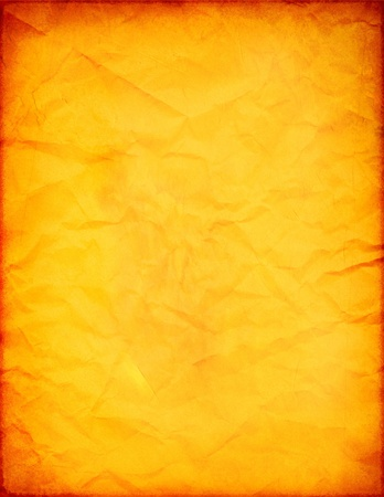 Old Orange Paper (Retro Effect on Pictures) photo