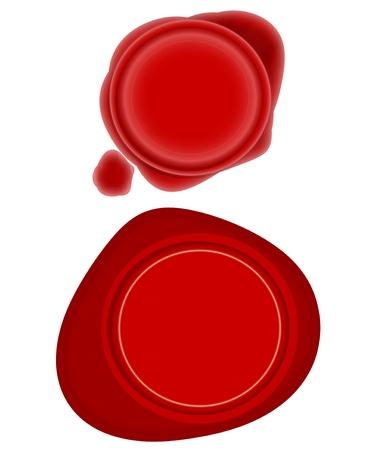 credentials: Red Wax Seals Stock Photo