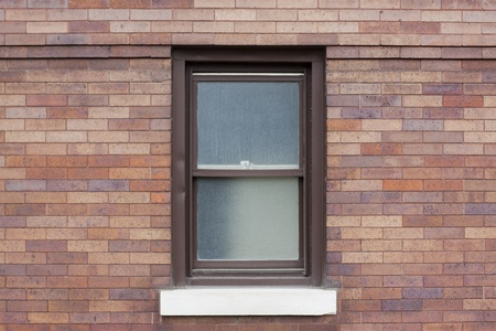 aluminum: Traditional american window with metal frame
