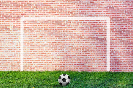 soccer goal: Street Soccer Illustration