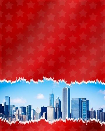 Creative Urban Design for 4th July Stock Photo - 9775348