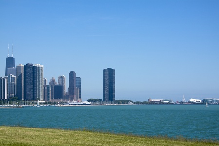 emigranti: Downtown Chicago con Blue Sky