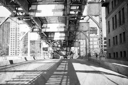 Chicago: Old (B&W) Chicago Design - Bridge