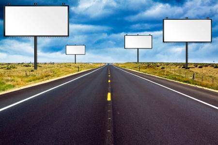 highway road: Billboards