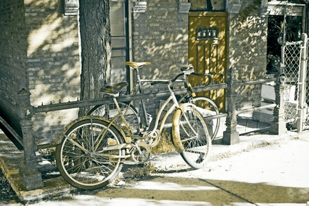 Old Picture Effect Urban Design - Bicycle photo