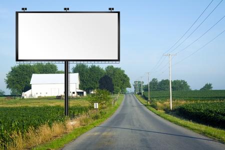 Illustration: Big Tall Billboard on road  Zdjęcie Seryjne