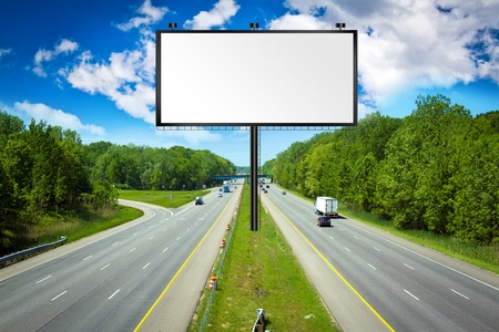 Billboard with Stormy Sky on american toll way  photo