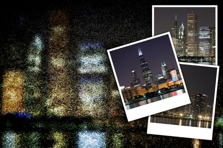 commercial real estate: Cityscape at Night Background