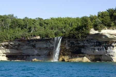 michigan: Upper Peninsula (Pictured Rocks) - Michigan, USA  Stock Photo