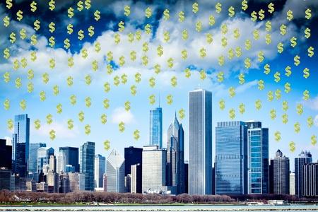 stock market crash: Stock Market Crash in City Finance District