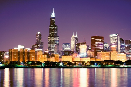 chicago skyline: Downtown Stock Photo