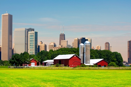 American Country with Big City in Background Stock Photo - 10478739