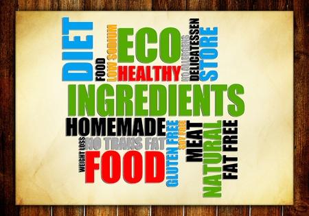 salt free: Food Tags Stock Photo
