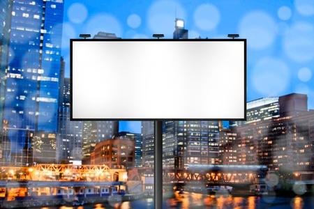 Billboard avec le fond City Night