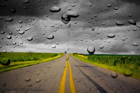 tarmac: Rain Stock Photo