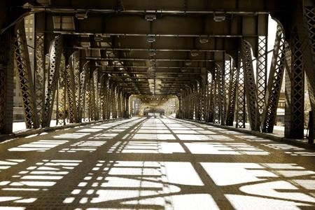 old bridge: Vintage Picture Effect - Chicago