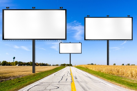 Billboard on Country Road  photo