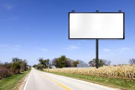 Billboard on Country Road  Zdjęcie Seryjne