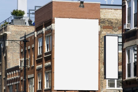 blank poster: Billboard in the city - Urban Design