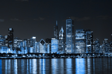Finance District at Night  photo